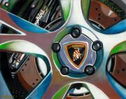 Lamborghini Car Art Print|Lamborghini Wheel