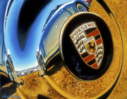 Porsche Car Art Print|Porsche Hub Cap