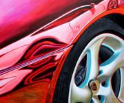 Porsche Car Art Print|Porsche on the Lawn