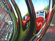 Jaguar Car Art Print|Jag  Reflection