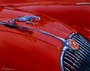 Jaguar Car Art Print|XK150 Hood