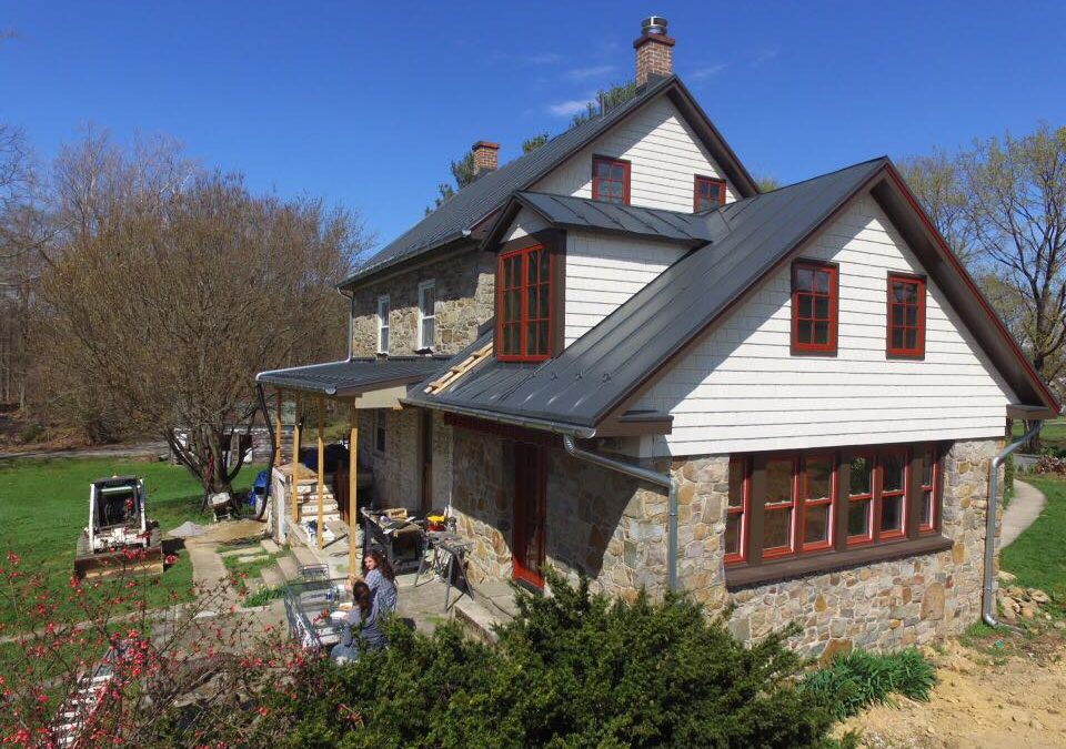 Charcoal gray standing seam on a beautiful historic home in Smithsburg MD