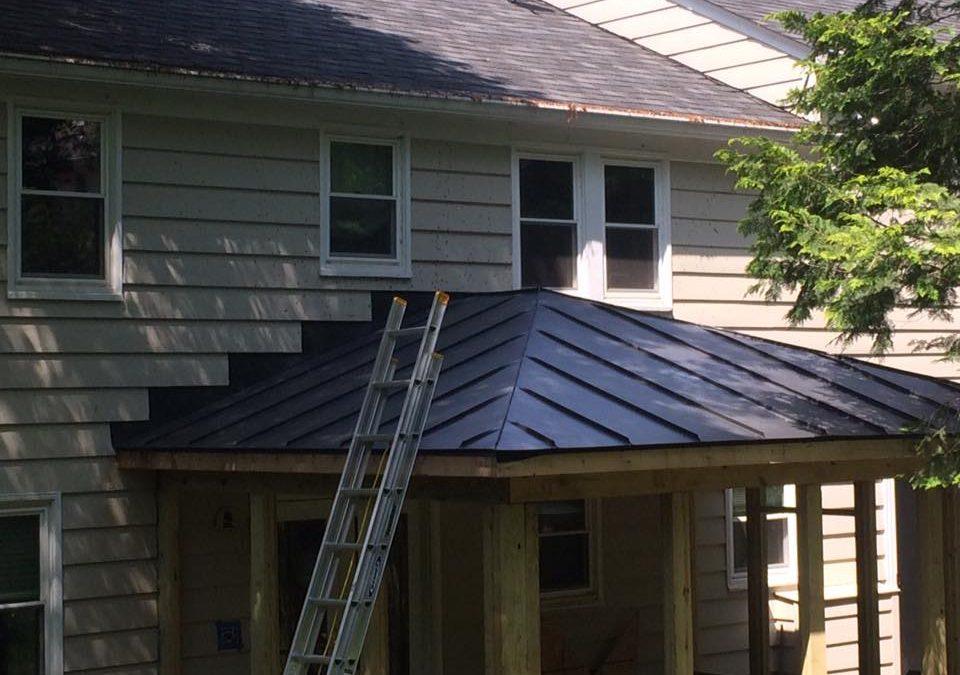 Matte Black standing seam screened porch roof in McLean, VA