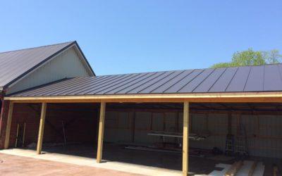 Dark Bronze standing seam garage roof in Sharpsburg, MD