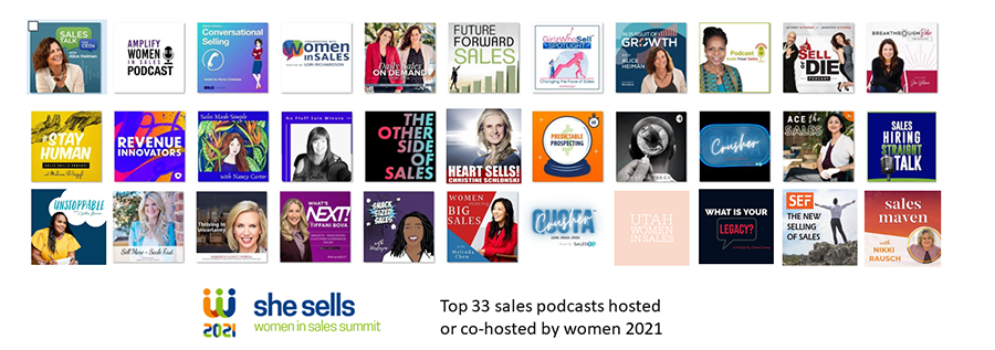 Top 33 Sales Podcasts Hosted or Co-Hosted by Women
