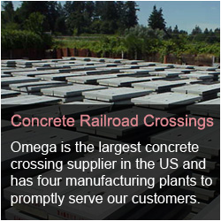 Omega Industries Concrete Railroad Crossings