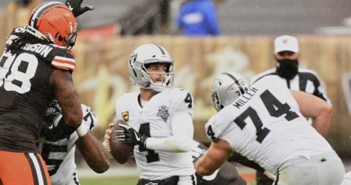 The Raiders have to be happy they stuck with Derek Carr: