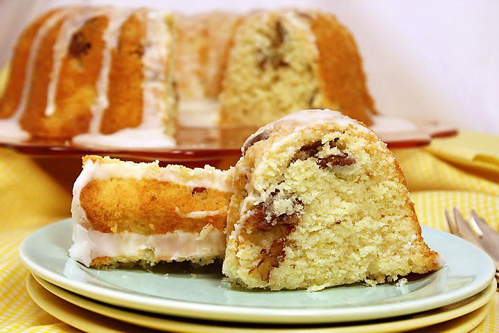 Lemon-Pecan Mascarpone Pound Cake