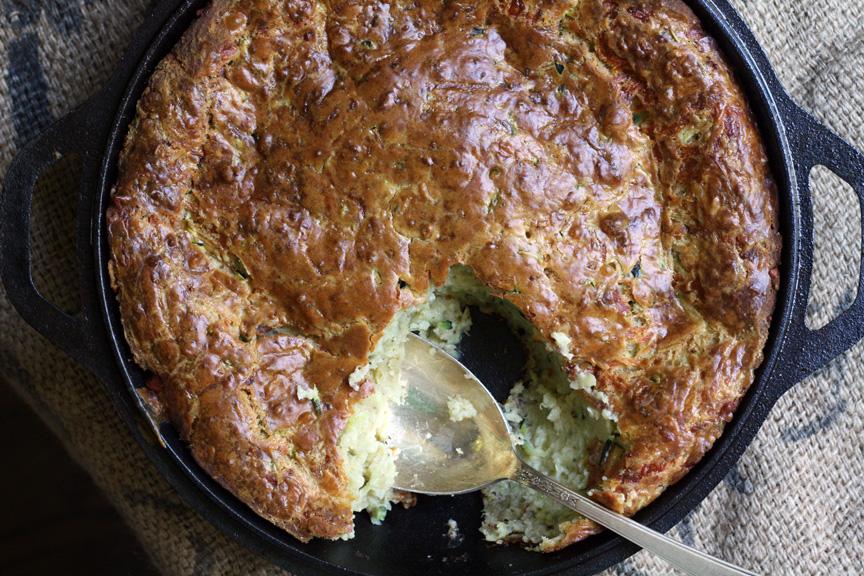 Zucchini-Chevre Spoon Bread