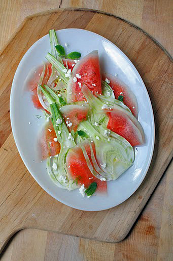 Fennel and Watermelon Crudo