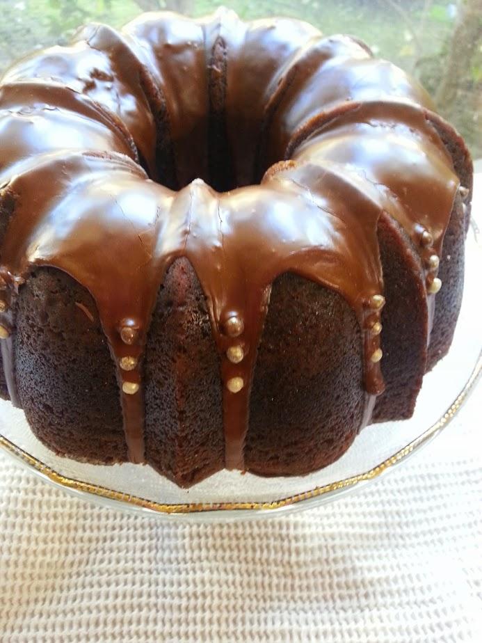 Gingerbread Bundt with Espresso Glaze