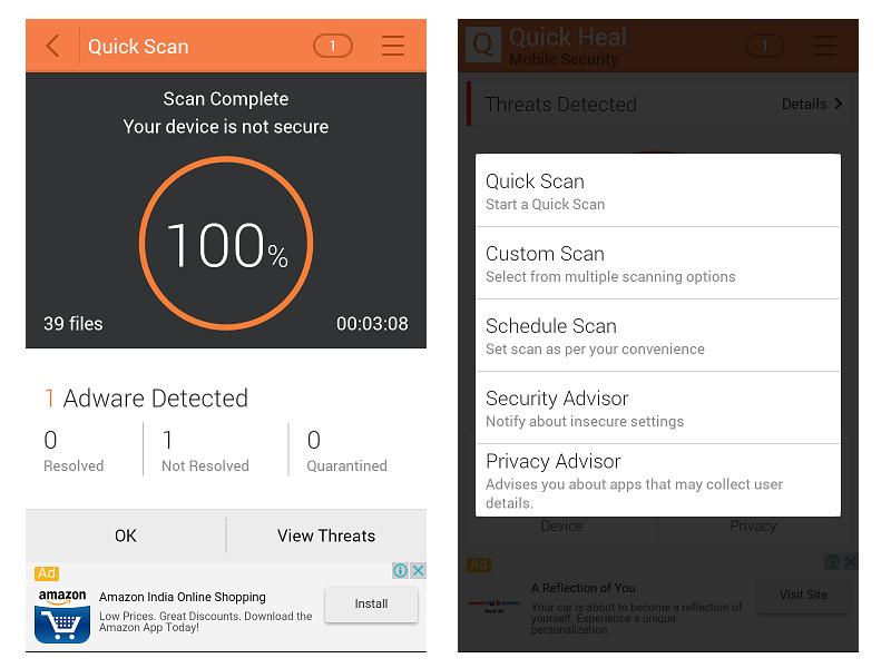 quick heal antivirus mobile