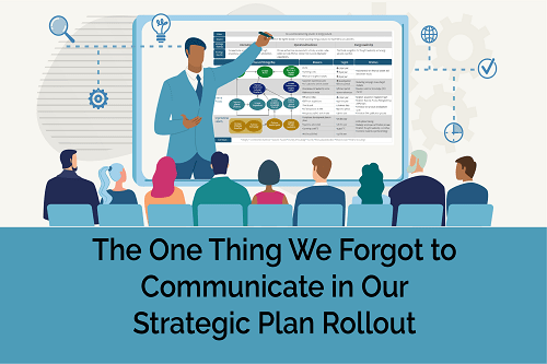 communicate during the strategic plan