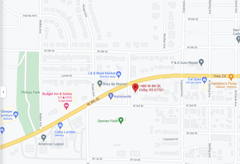 Options Domestic & Sexual Violence Services, Colby KS map image