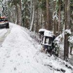 Snowy Mountain Road Car Slip