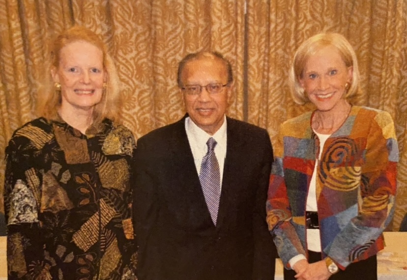 Amassador Choudhary, Sharom Hamilton and Helena Steiner-Hornsteyn at United Nations after a talk by Helena and Ambassador Chaudhary