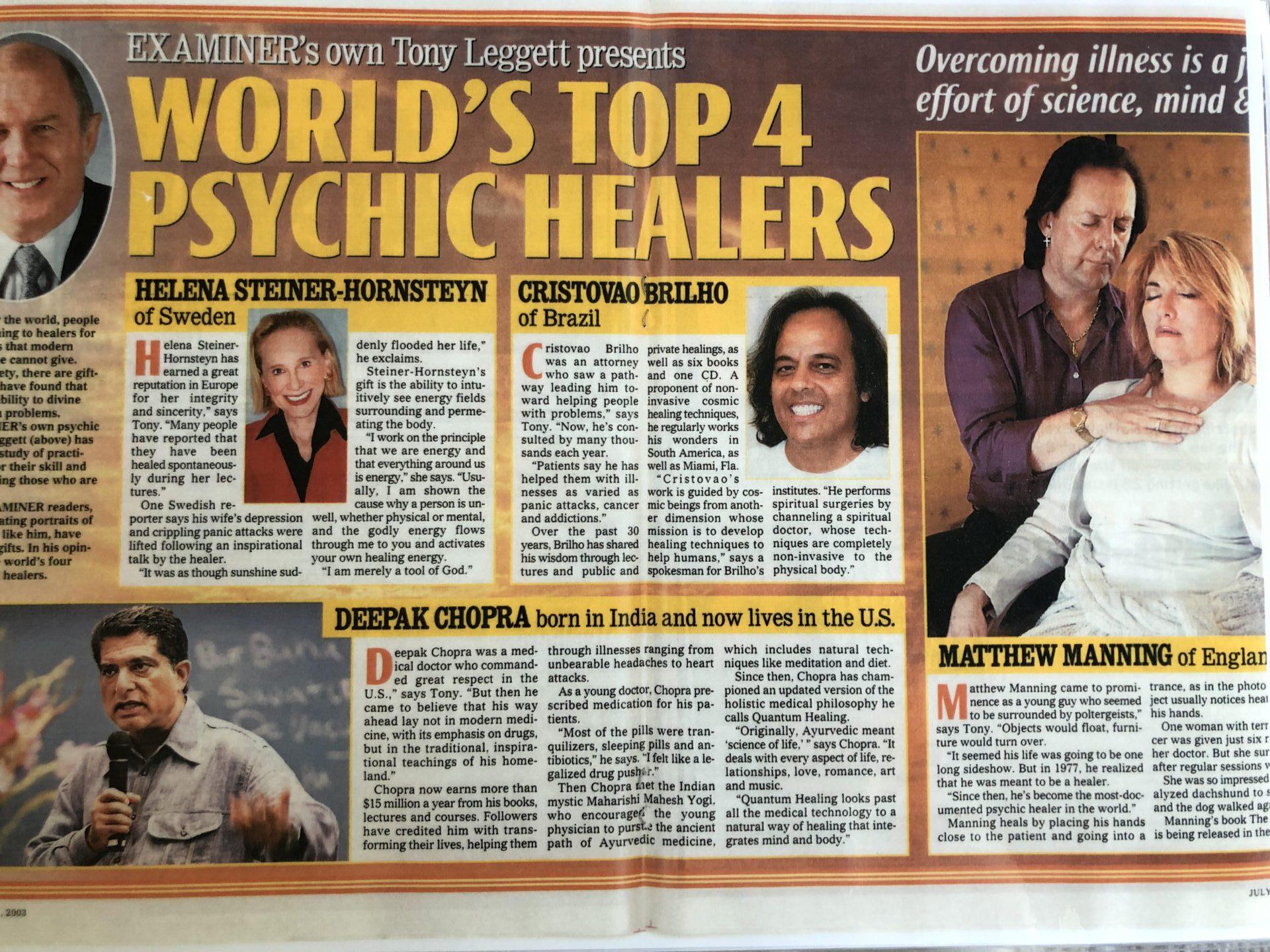 Worlds best psychic healers A