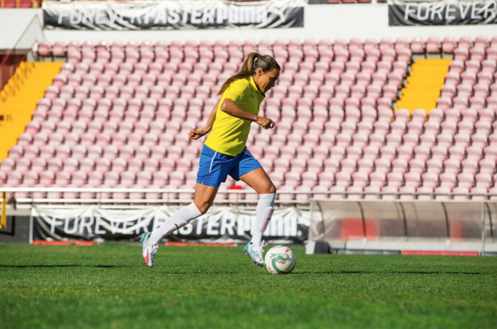 Marta wearing the new evoSPEED 1.3 by PUMA
