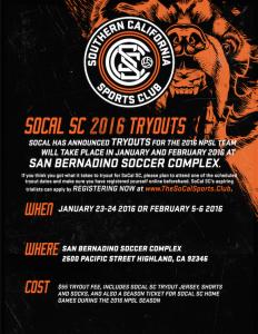 Flyer Back - SoCal SC Social Media