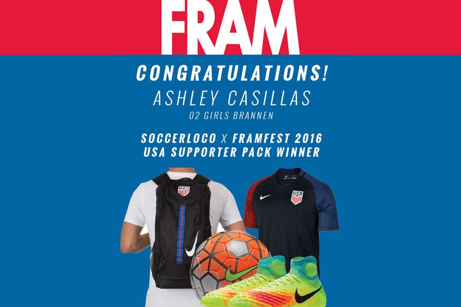 FRAMfest 2016 USA Supporter Prize Pack Winner!