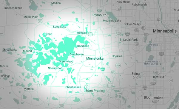 Our service area includes Wayzata, Excelsior, Tonka Bay, Shorewood, Deephaven, Minnetrista, Minnetonka, West Plymouth, and Mound MN