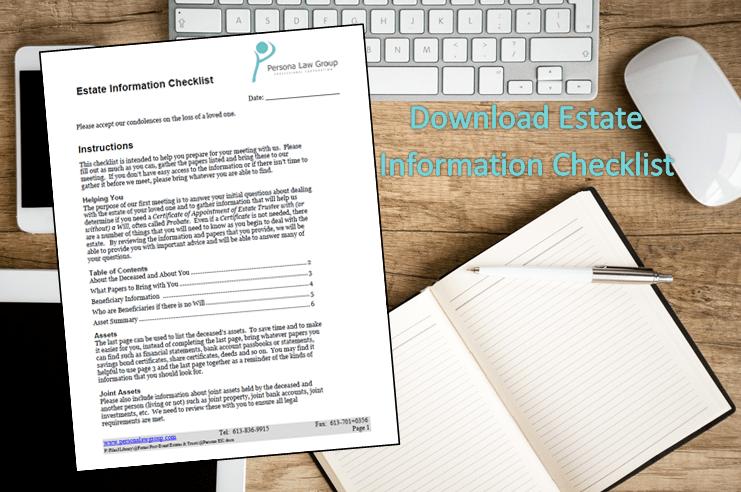 Estate Information Checklist