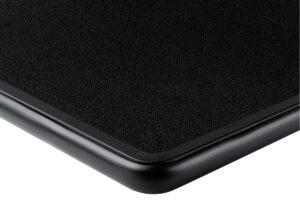 Black carpet with black bumper deck