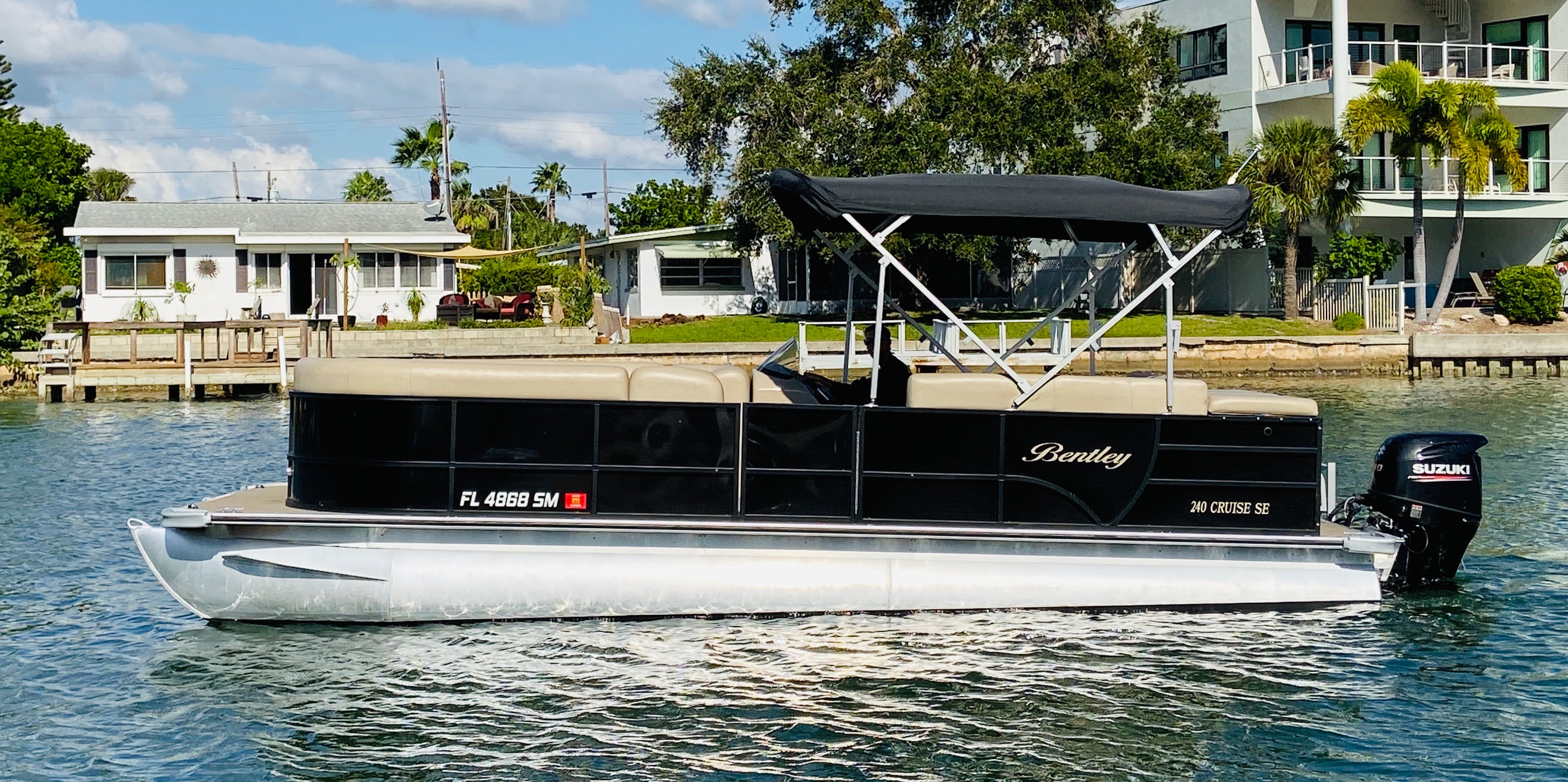 Pontoon Boat at Treasure Island Boat Rental Florida