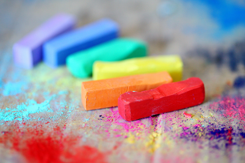 Canva - Assorted Colored Chalks on Wood Surface