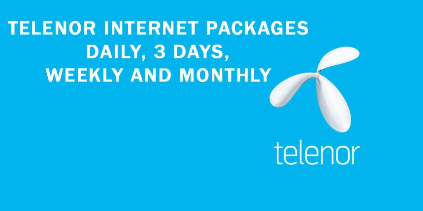 Telenor Internet Packages 2G, 3G & 4G