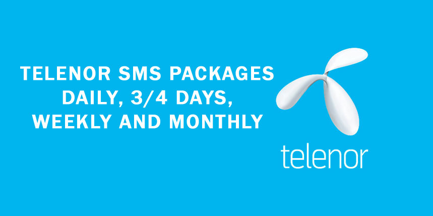 Telenor SMS Packages Daily, 3 days, Weekly, Monthly