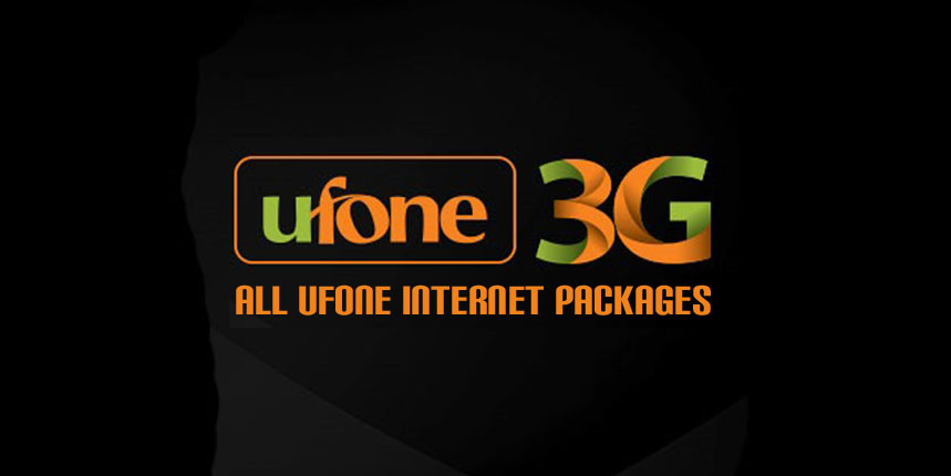 Ufone 3G Internet Packages: Daily, 3 Days, Weekly, Monthly
