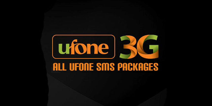 Ufone SMS Packages, Daily, Weekly, Monthly, Yearly, Nightly, Fortnightly, 45 Days