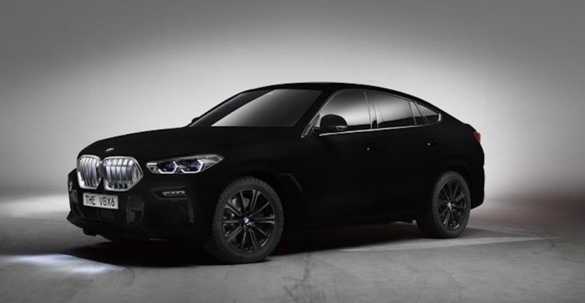 BMW X6 2020 painted with the 'world's blackest black' coating