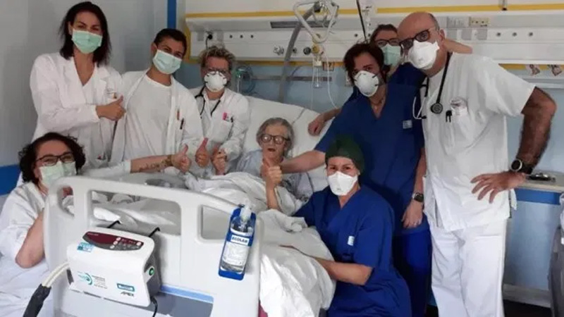 A 95-year-old grandmother becomes the oldest woman in Italy to recover from coronavirus