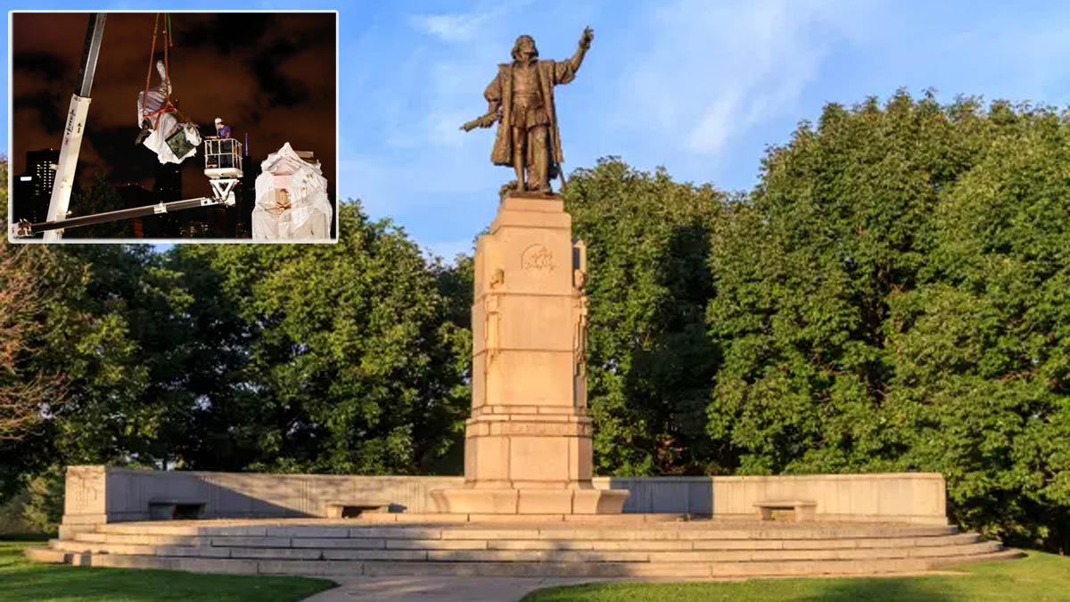 Statue of Christopher Columbus removed