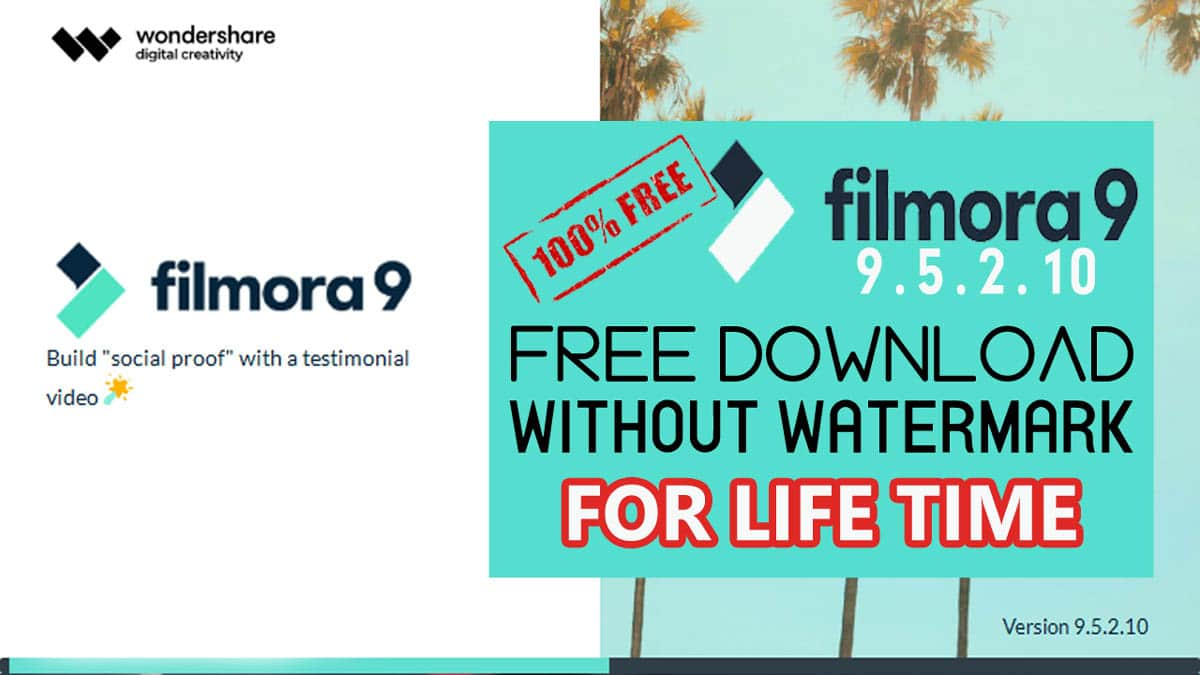 Download and Install Filmora 9 Free for Lifetime