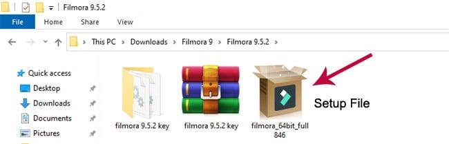 filmora 9 free downloaded file.