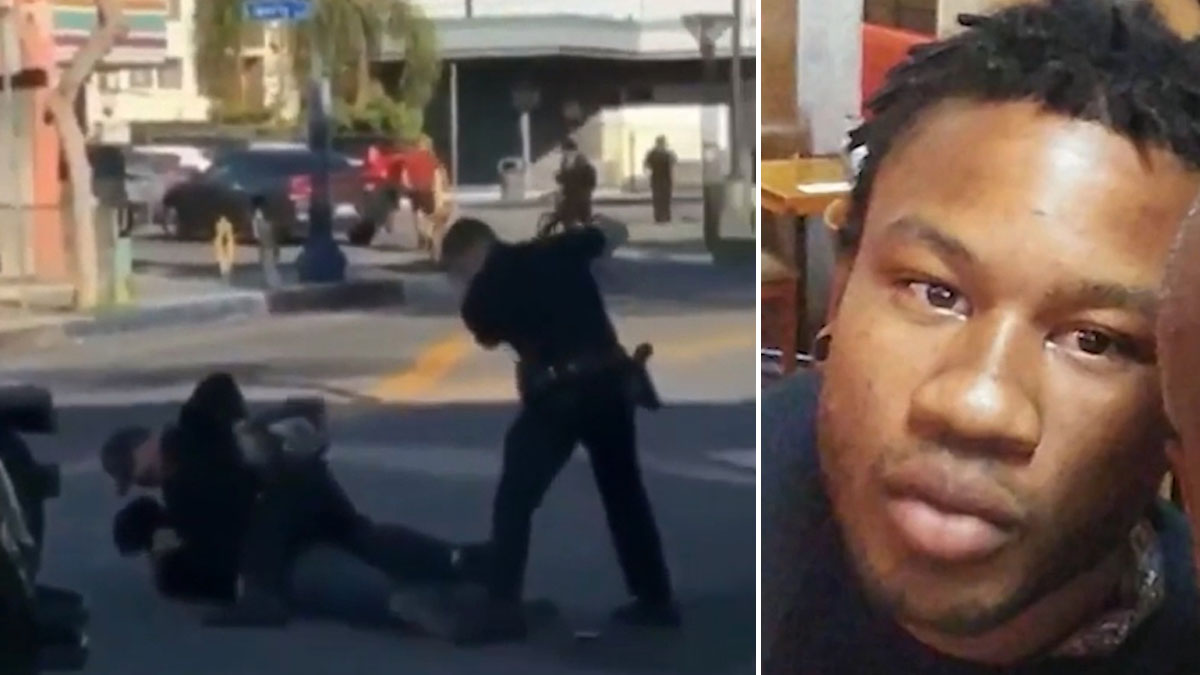 Black man beaten by cops on video was 'suffering from anxiety' during arrest