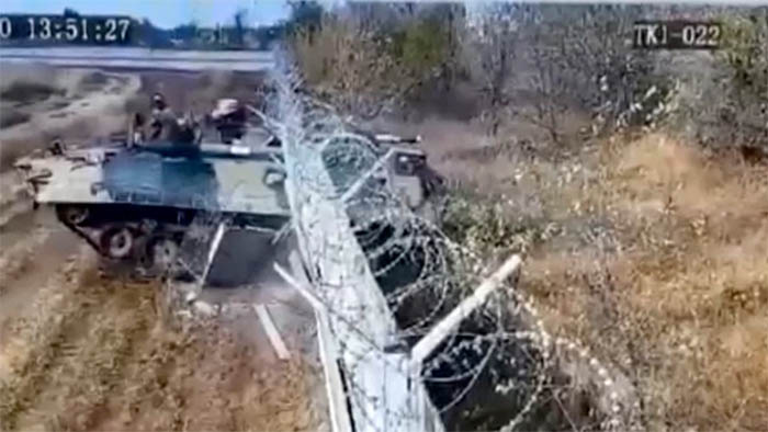Local media reports the two soldiers in the vehicle were drunk during the incident