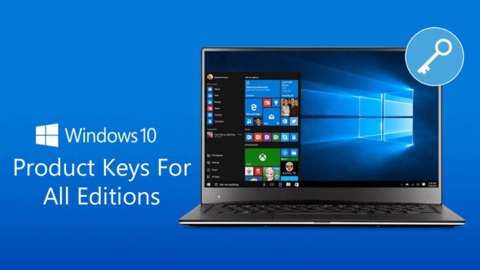 Windows 10 Product Key Free For All Editions 2021