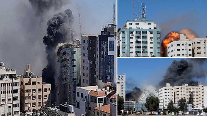 Israeli airstrike in Gaza destroys building with international media houses