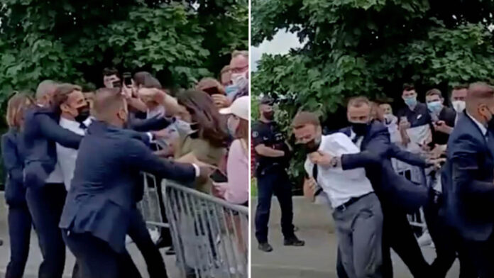 Macron slapped in the face during walkabout in southern France