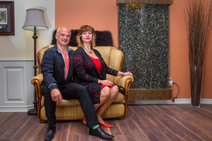 Plamen and Vessela – founders of the Lorne Park Spa and Salon