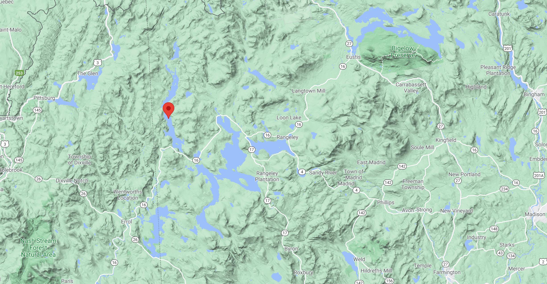 Western Maine Map