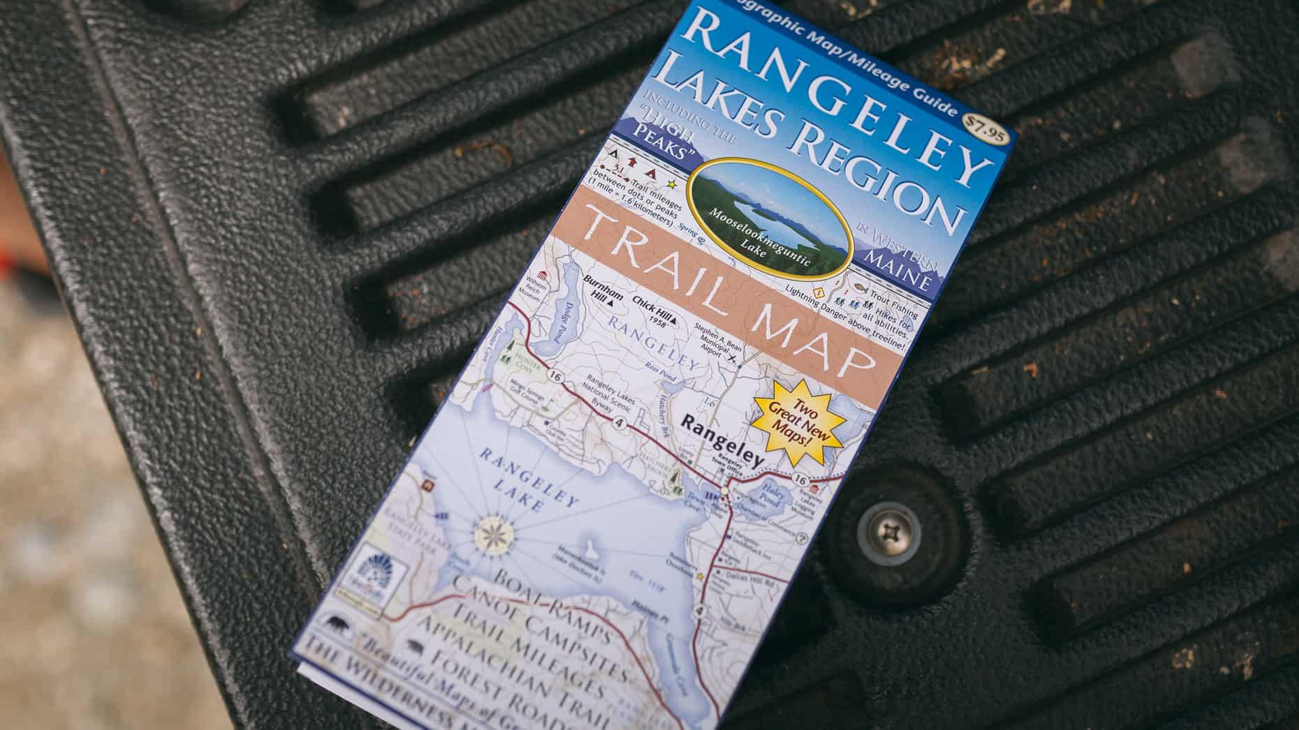 Rangeley Lakes Region trail map.