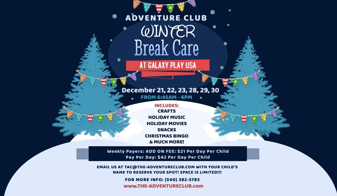 Winter Break Care 2020!