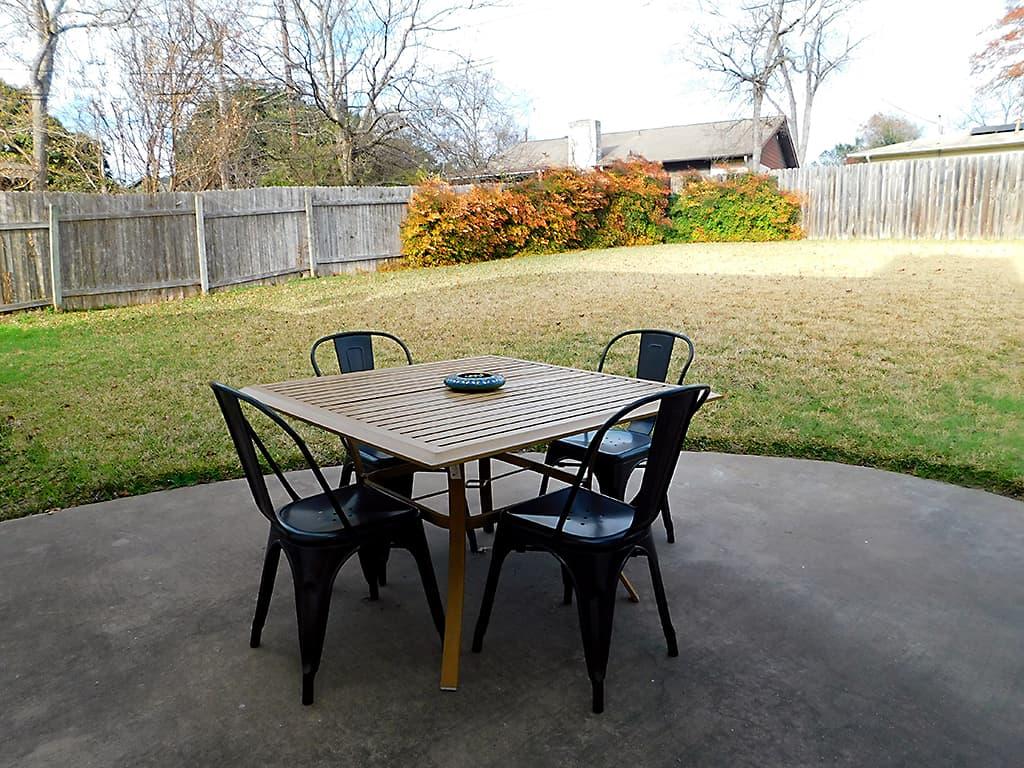 Austin TX sober living house back patio