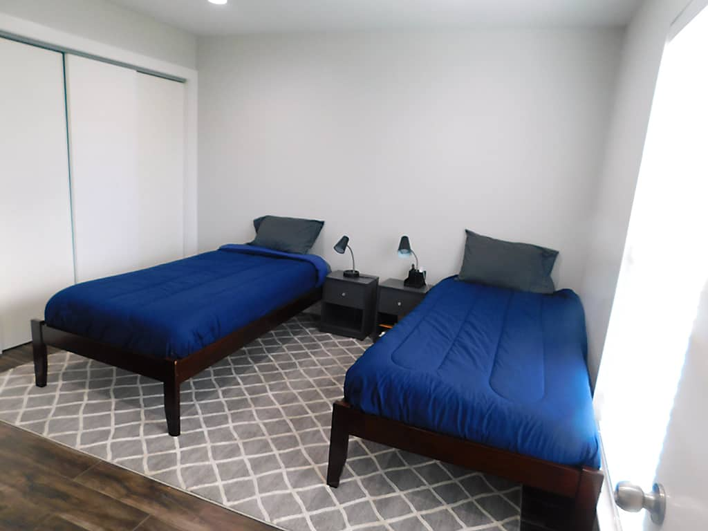 Austin TX sober living house bedroom