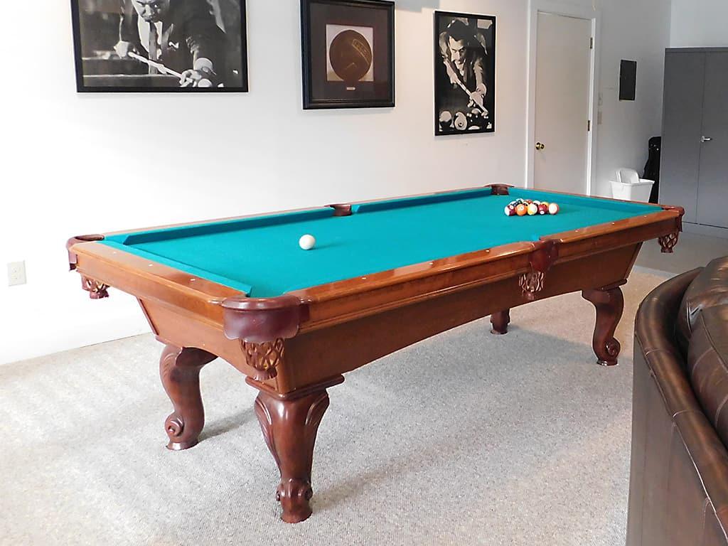 Austin TX sober living house pool table